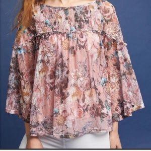 Anthropologie bell blouse